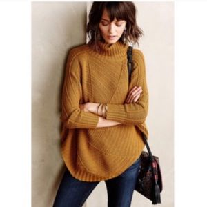 Anthro Angel of the North Harvest Moon Knit Poncho